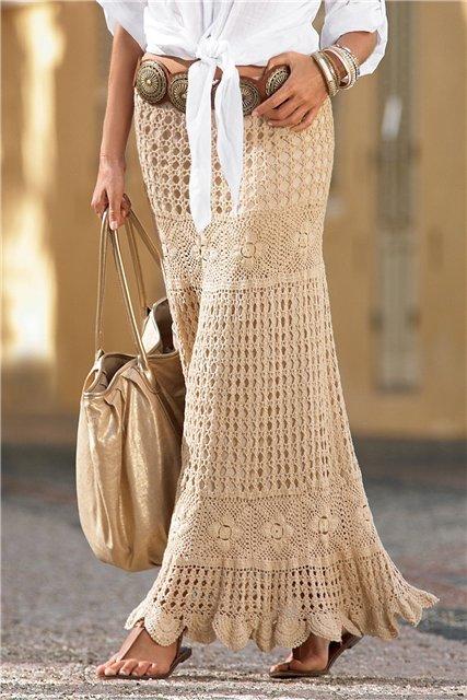 Pollera tejida al crochet con patrones - Imagui